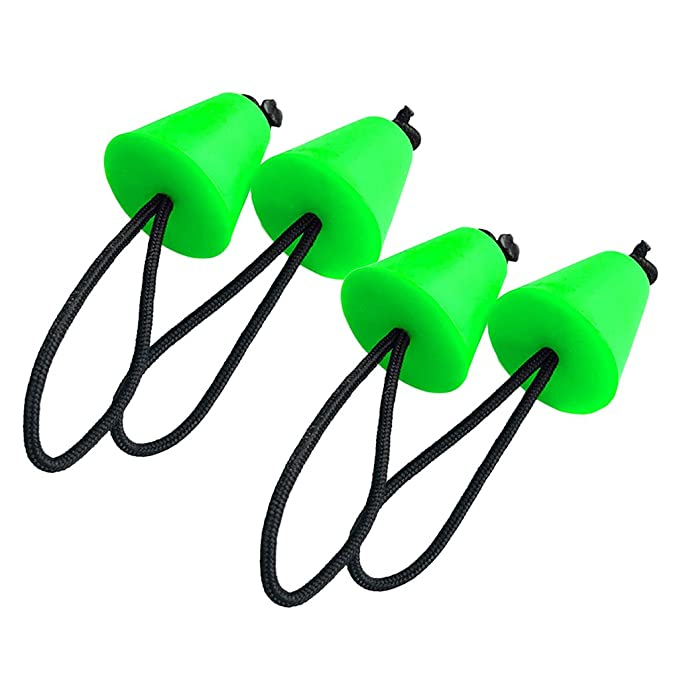 Pack of 4 Sanmum Kayak Scupper Plugs Kit Kayak Accessory Stopper Plug Fits Holes 3//4 to 1.5 for Canoe Drain Boats