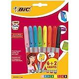 BIC Marking Color - Blíster de 8 marcadores permanentes