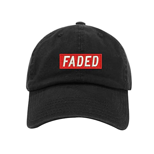 f43584b7330 Faded Dad Hat Cotton Baseball Cap Polo Style Low Profile 12 Colors (Black)