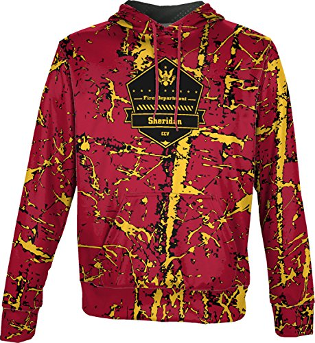 Price comparison product image ProSphere Boys' Cane Creek Volunteer Fire Department Distressed Pullover Hoodie