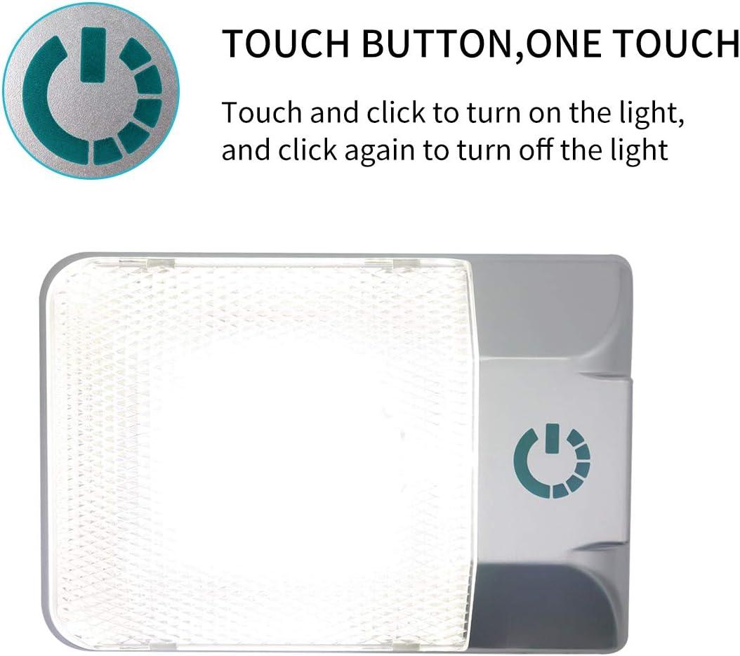 jamgoer DC11-18V Double-lamp Non-Polar Touch Adjustable Light Reading Lamp Ceiling White LED for RV Ship