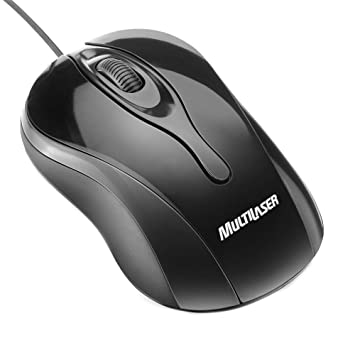 Mouse Usb Óptico Led 800 Dpis Colors Preto Mo141 Multilaser