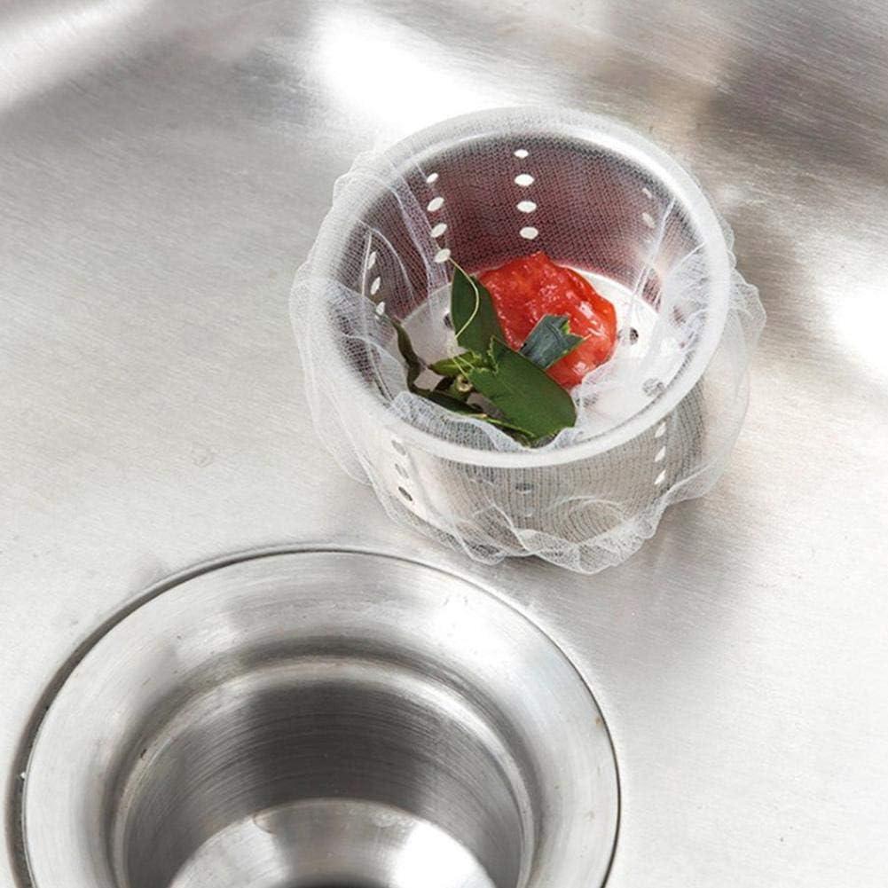 bolsa de filtro de esta/ño #2 100pcs tap/ón de filtro colador de desag/üe para fregadero de cocina Bolsa de malla desechable para residuos de residuos
