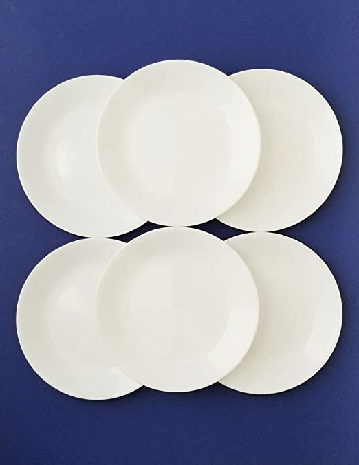 Winter Frost White Size: 8-1//2-Inch Corelle Livingware Luncheon Plate Set of