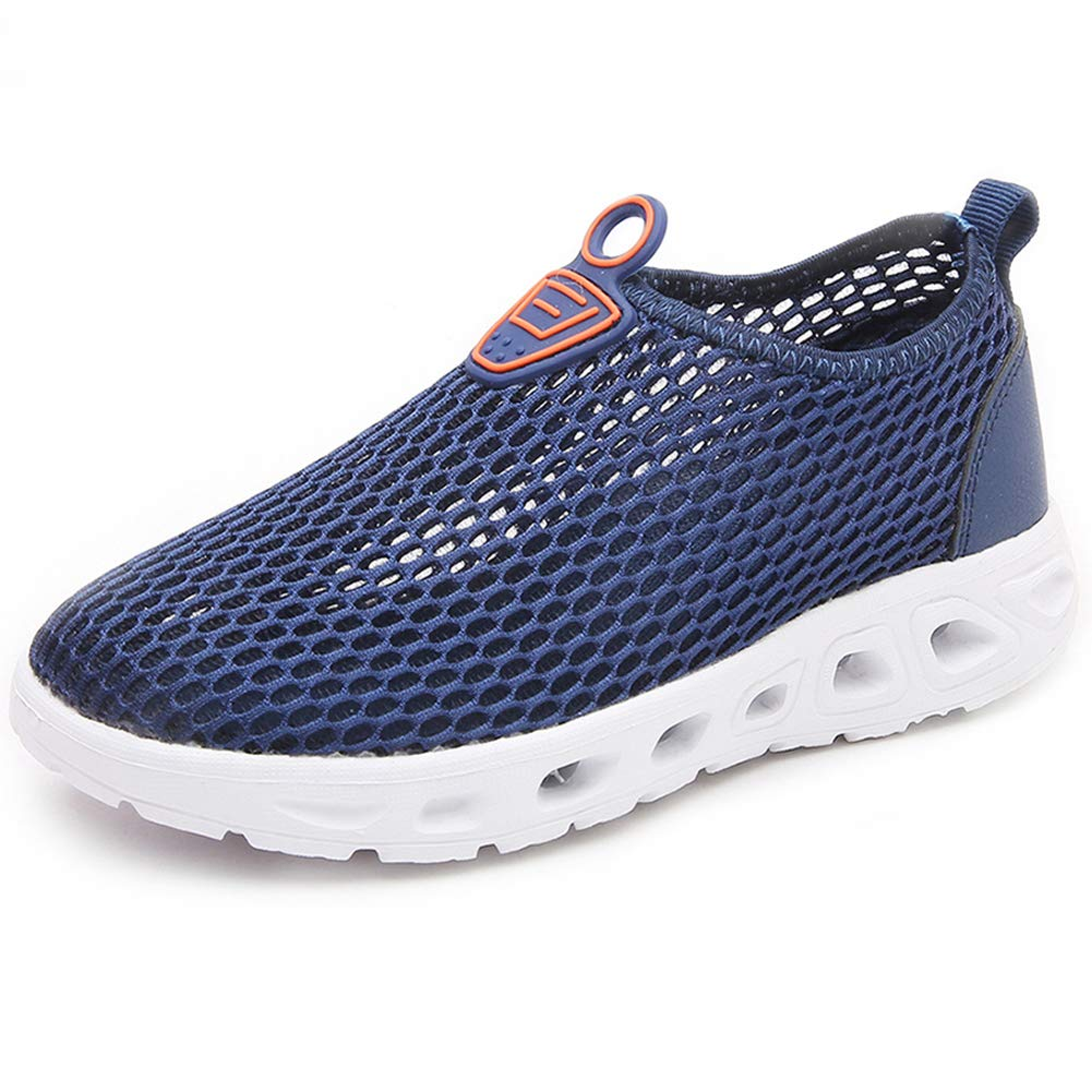 S-BAO Boy's Girl's Breathable Mesh Water Shoes Lightweight Slip-on Sneakers for Walking Sailing Beach-Blue