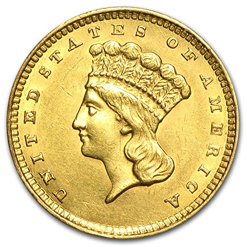 1854-1856 $1 Indian Head Gold Type 3 AU (Random Year) G$1 About Uncirculated