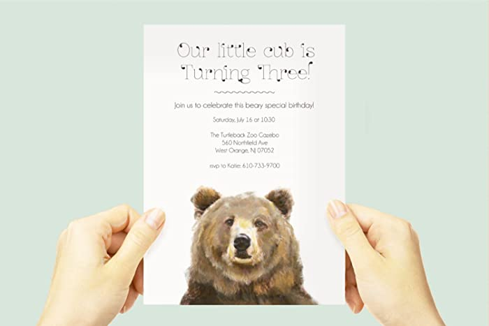 Amazon Bear Cub Birthday Party Invite Baby Animal
