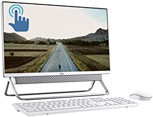 "Dell Inspiron 24 5000 Series All-in-One Desktop, 23.8"" FHD Touchscreen Display, 10th Gen Intel Quad-Core i5-10210U (>i7-8550U), 16GB DDR4 256GB PCIe SSD + 1TB HDD, MaxxAudio FHD Camera USB-C Win 10"