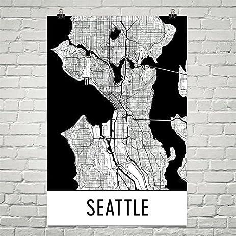 Amazoncom Seattle Poster Seattle Art Print Seattle Wall Art