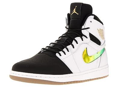 Amazon.com | Jordan Nike Men's Air 1 Retro High Nouv Basketball Shoe (12  D(M) US, White/Black/Gum Light Brown) | Basketball