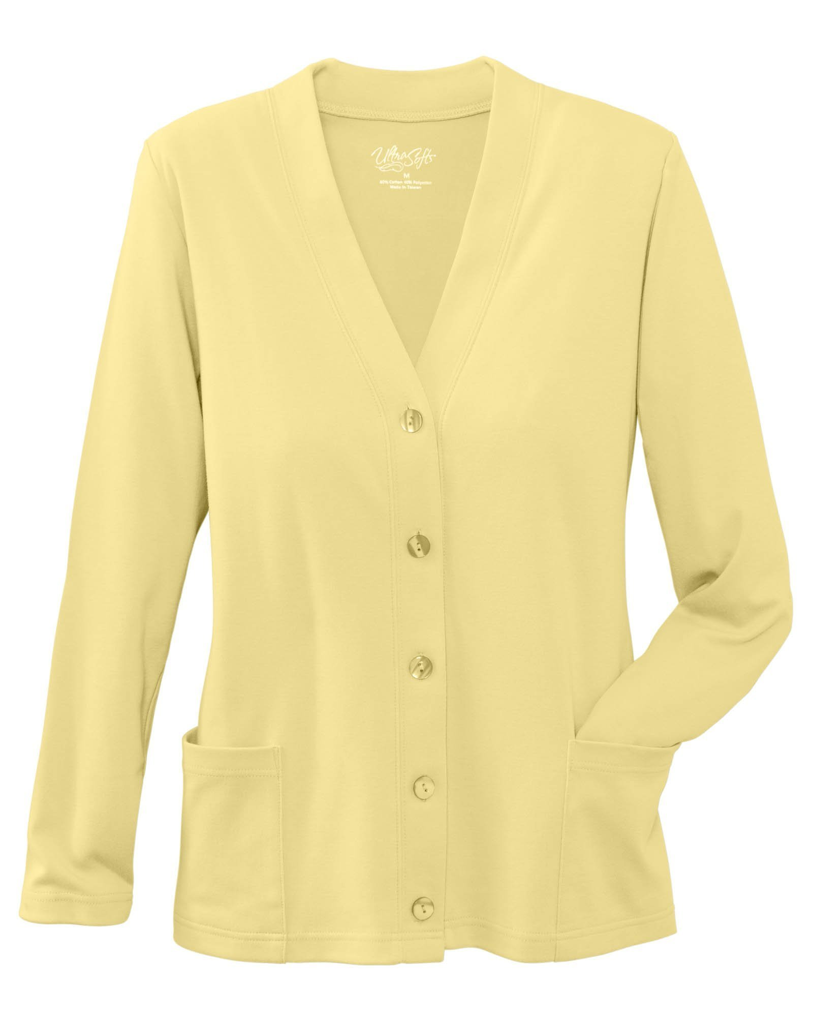 UltraSofts Button-Front Knit Cardigan, Butter, Petite XL