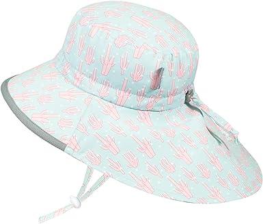 Adjustable Chin-Strap 50+ UPF Cotton JAN /& JUL Baby Sun-Hat Toddler Girls Wide Brim Kids