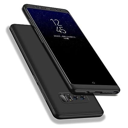 WindCase Galaxy Note 8 Funda, 360 Grados Cuerpo Completo Protección 3 en 1 Duro PC Funda Anti-rasguños Carcasa para Samsung Galaxy Note 8 Negro
