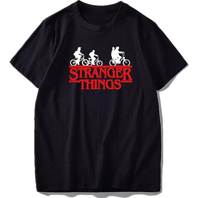 053672c3b61d9 Amazon.com: 100% Cotton Stranger Things T Shirt Short Sleeve Men ...