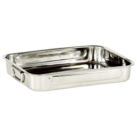 My Basics Oven Baking Pan Roasting with Drop Handles Stainless Steel 16 Inches
