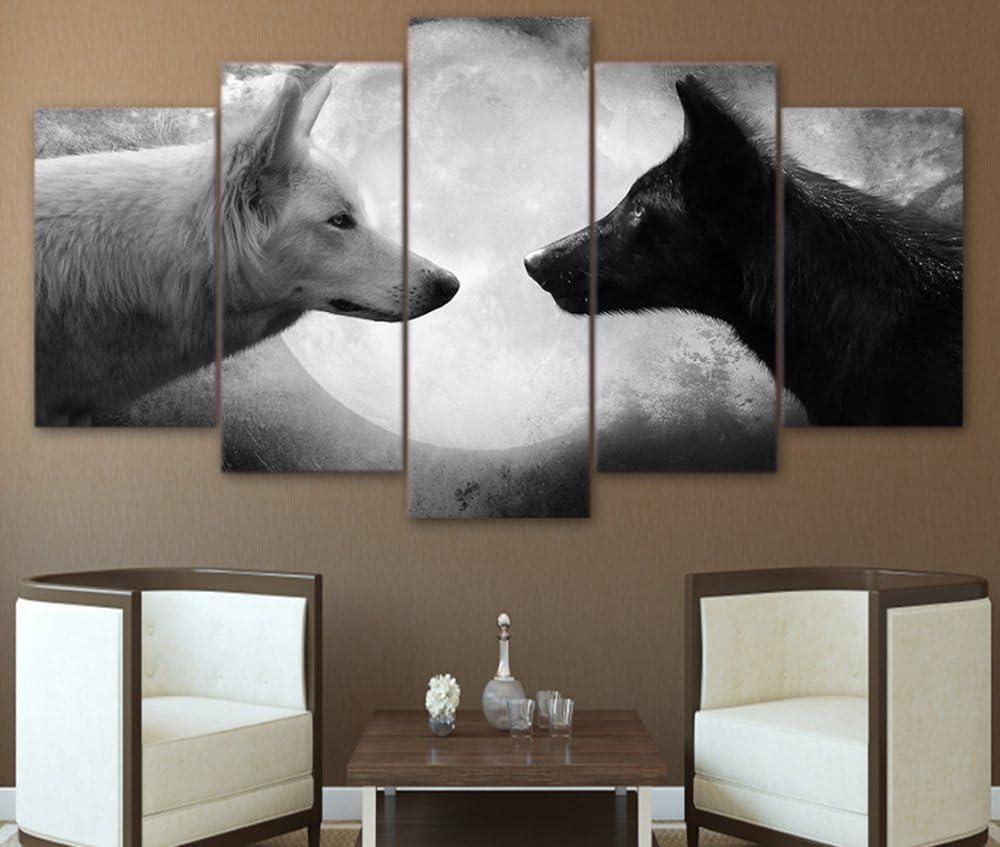 White Wolves pack Canvas Art Cheap Wall Print Home Interior