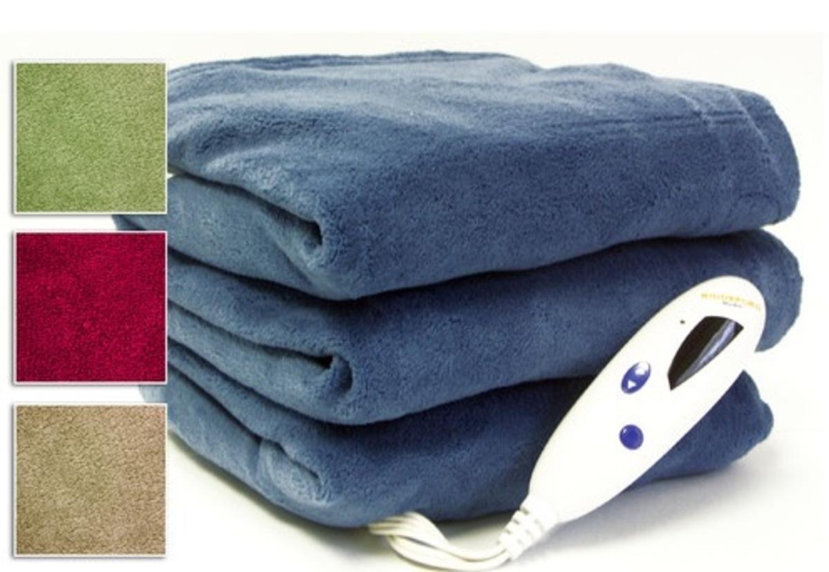 Biddeford 2030-905291-500 MicroPlush Electric Heated Twin Blanket - Linen