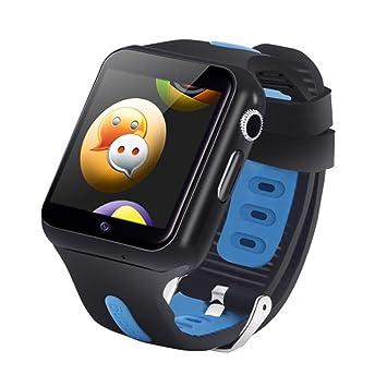 Prom-near Reloj para Niños Impermeable 3G WiFi Niños Inteligente Relojes GPS para Niños Regalos de Cumpleaños (Negro+Azul): Amazon.es: Deportes y aire libre