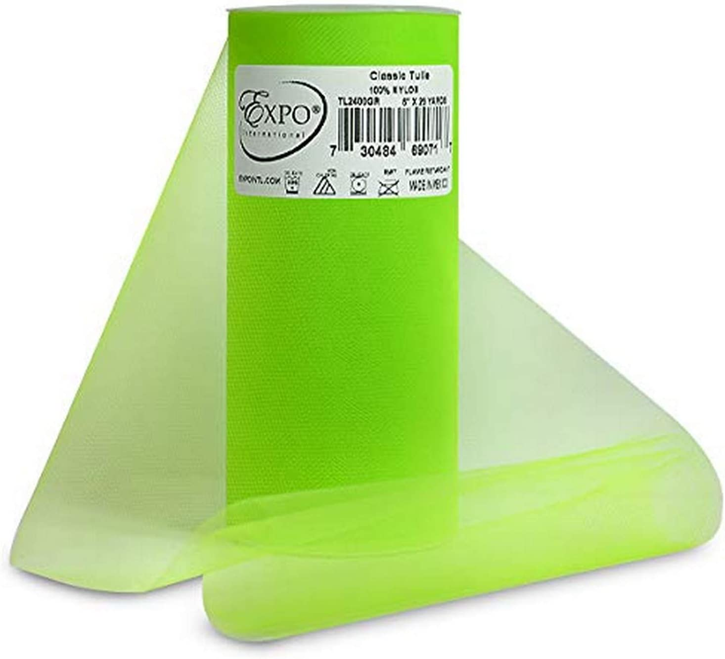 EXPO Classic Tulle Spool of 25-Yard, Green