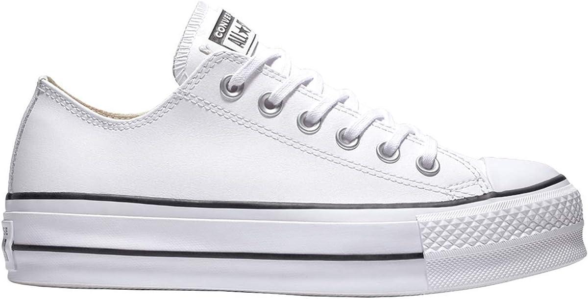 Converse CTAS Lift Clean Ox Black/White, Zapatillas para Mujer