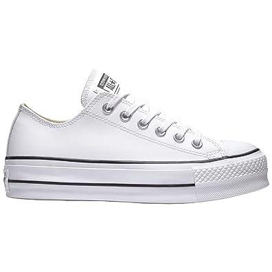 Converse CTAS Lift Clean Ox Black/White, Zapatillas para Mujer: Amazon.es: Zapatos y complementos