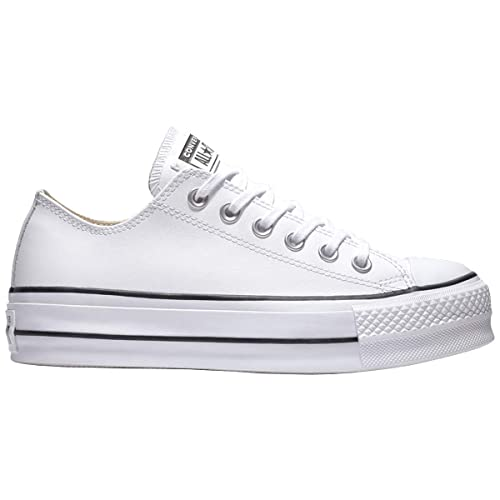 Converse Chuck Taylor CTAS Lift Clean Ox, Zapatillas para Mujer, Blanco Black/White