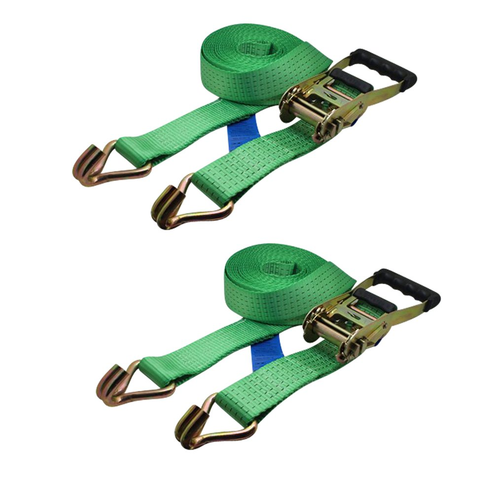 19.68ft Ratchoox Ratchet Tie Down Straps 5T Heavy Duty with Rubber Handle for Trailer Cargo Green x50mm 4, 6m