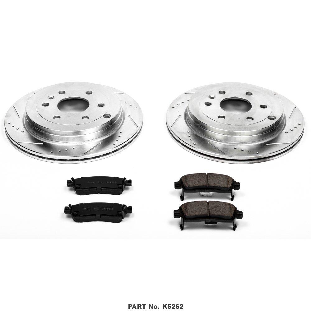Power Stop K5262 Rear Brake Kit with Drilled//Slotted Brake Rotors and Z23 Evolution Ceramic Brake Pads