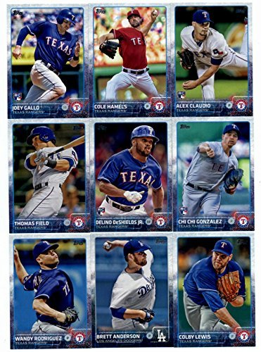 Rangers Cards Texas Baseball Topps (2015 Topps Baseball Cards Texas Rangers Complete Master Team Set (Series 1 & 2 + Update - 40 Cards) With Yu Darvish, Adrian Beltre, Nick Tepesch, Michael Choice, Guilder Rodriguez, Adrian Beltre, Alexi Ogando, Elvis Andrus, Shin Soo Choo in Protective Snap Case)