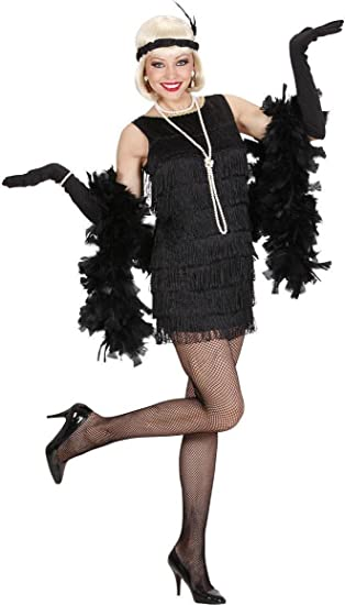2ebe8a6b Mega_Jumble® Deluxe Black Charleston Women's Flapper Dress with  Accessories- 1920's Great Gatsby Flapper Kit Dress, Headband, Gloves, Beads  Necklace ...