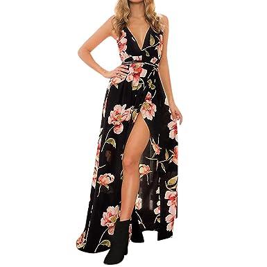 bc9c82817dcc8 TANGSen Womens Holiday Sleeveless Fashion Strappy Ladies Maxi Long ...