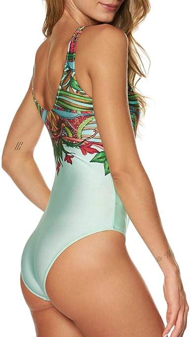 Sumen Teen Girls Criss Cross Strappy One Piece Swimwear Lace-up Back Monokini Halter Bathing Suit