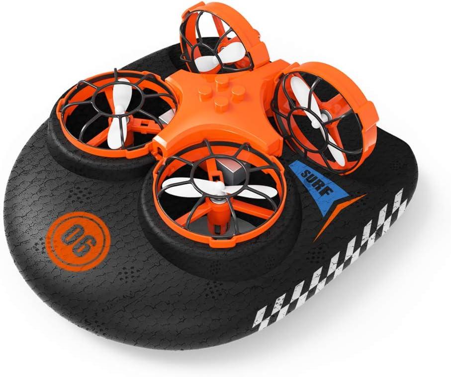 EACHINE E016F, Hovercraft Drone, Mini Drone para Niños, 2.4GHZ Modo sin Cabeza
