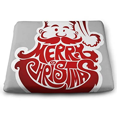 "Osvbs New Year's Label with Santa Claus Decorative Cushion 1.2"" × 13.8"" × 15.0"" for Home Office Dinning Chair Solid Color Indoor Outdoor: Home & Kitchen"