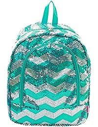 Sequin Chevron Stripe Large Backpack Handbag