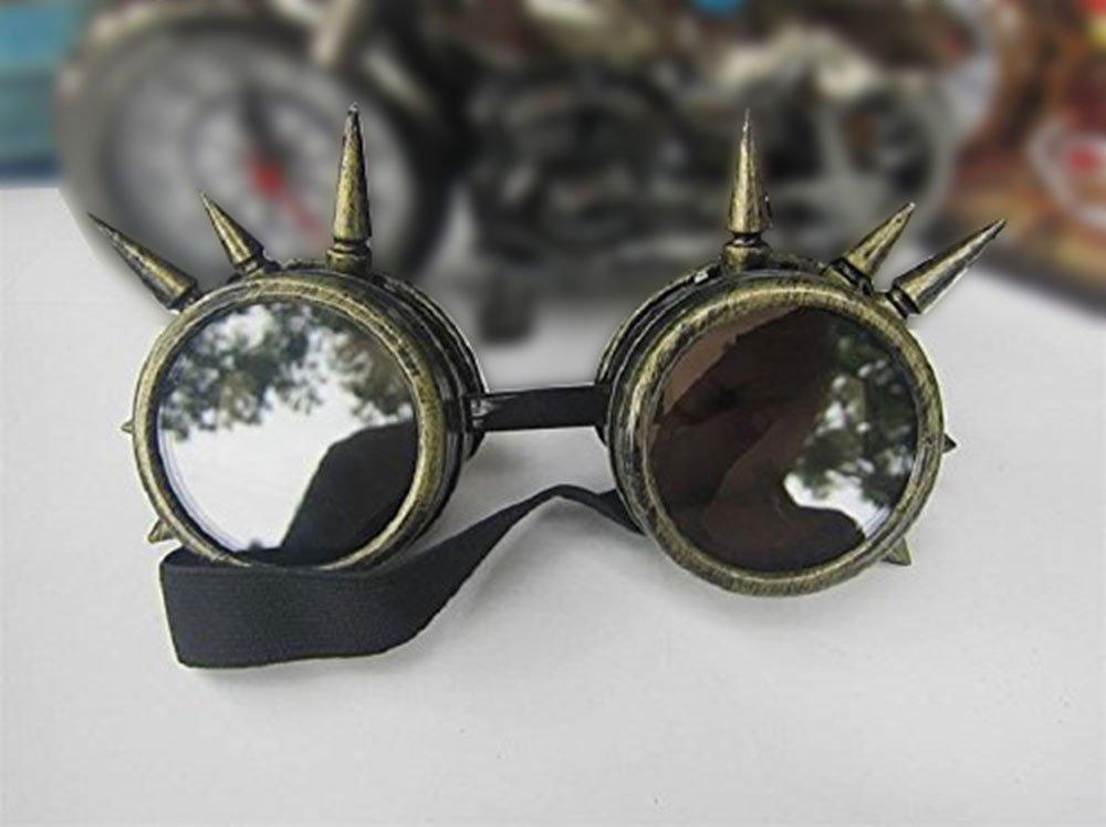 Leegoal TM Vintage Steampunk Brille Schwei/ßer Cyber Punk Gothic Cosplay Schutzbrille