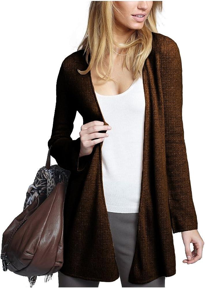 Parisbonbon Womens 100/% Cashmere V-Neck Cardigan Color Chocolate Size 5X