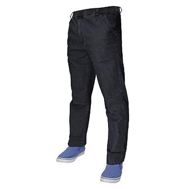 11151845ff TurnHout Mens Denim Stretch Jeans Elasticated Waist Work Comfort Casual  Pants M-3XL