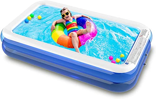 Best portable pool: SURFMASS Family Inflatable Swimming Pool Oversize 1-7 Peoples 120 x 72 x 19.6 Lounge Pool