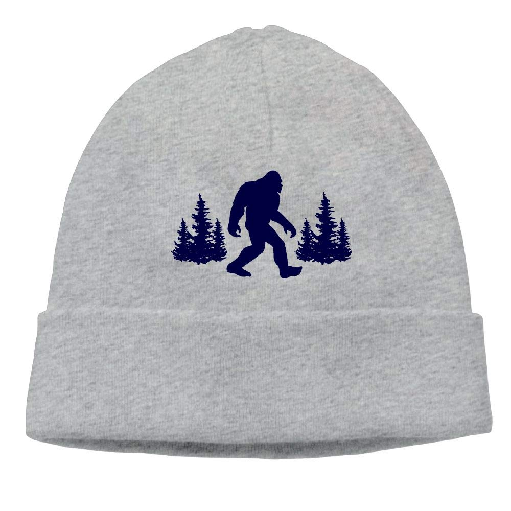 Michgton Beanie Hat Ski Caps Winter Cool Funny Blue Bigfoot Sasquatch Male