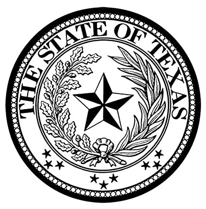 Amazon Com 11 Round Tin Sign Texas State Seal Posters Prints