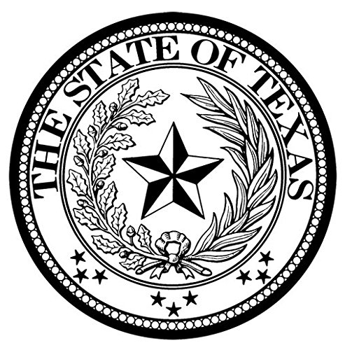 (Set Of 4 Coasters With Cork Backing Texas State Seal)