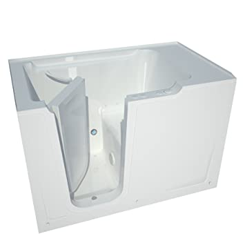 Meditub MT3660LWA Bariatric 36 By 60 By 40 Inch Air Jetted Walk In Bathtub  Spa Left Side Door, White     Amazon.com
