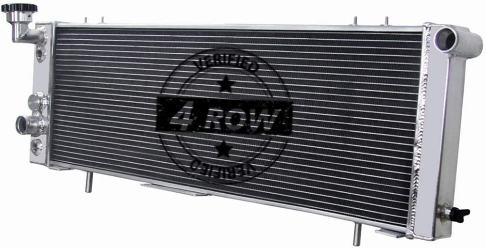CoolingSky 4 Row Full Aluminum Radiator for 1991-2001 Jeep Cherokee XJ,Comanche 2.5/4.0L Models - Direct Replacement