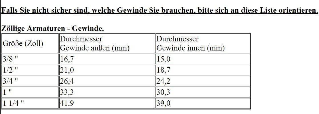 """Schlauchtülle 1//2/"""" IG 3//4 AG Tankverschraubung Regentonnenanschluss ALF2+F1"""