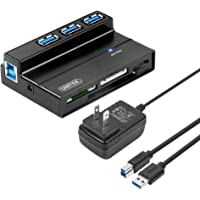 Unitek 3-Port USB 3.0 Hub with Multi-in-1 Card Reader