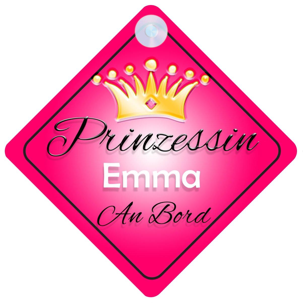Prinzessin Emma Baby / Kind an Bord Mädchen Auto-Zeichen (Prinzessin001) Quality Goods Ltd