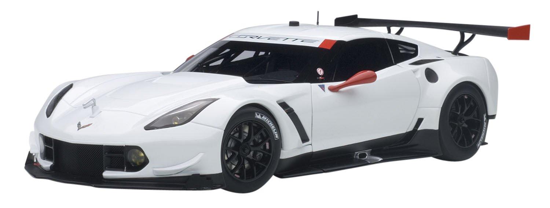 AUTOart 81650 Chevrolet Corvette C7R GTE – Plain Body 2016 – Echelle 1/18, weiß/Rot