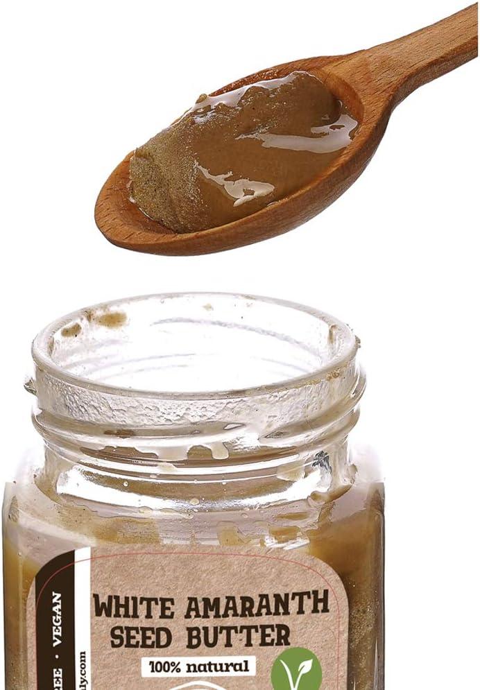 Mantequilla de Semilla de Amaranto Blanco 8 onzas (230gr) | Rico en Proteínas y Fibra | Sin Azúcar Para Untar Nueces Añadidas | Vegano | 100% ...