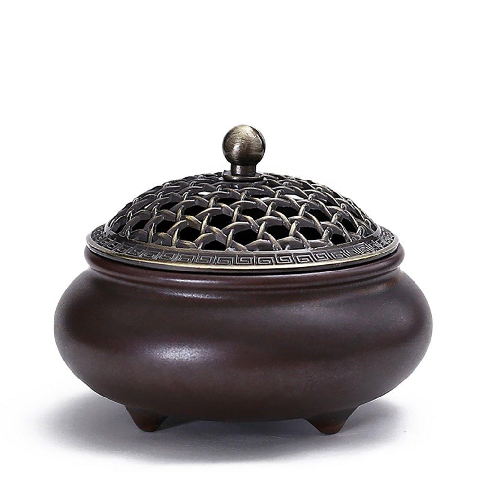 Estufa de Incienso de cerámica Estufa de aromaterapia para Interiores, Quemador de Incienso para purificar el Aire: Amazon.es: Hogar